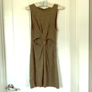 Top Shop Bodycon Dress Green